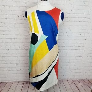 Alice + Olivia|Mod Pop Art Fitted Sheath Dress